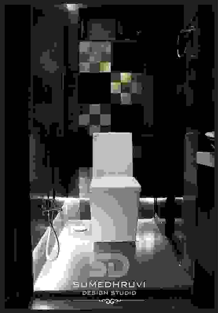 Master Bathroom W.C. Area with Raised Floor Modern Bathroom by SUMEDHRUVI DESIGN STUDIO Modern