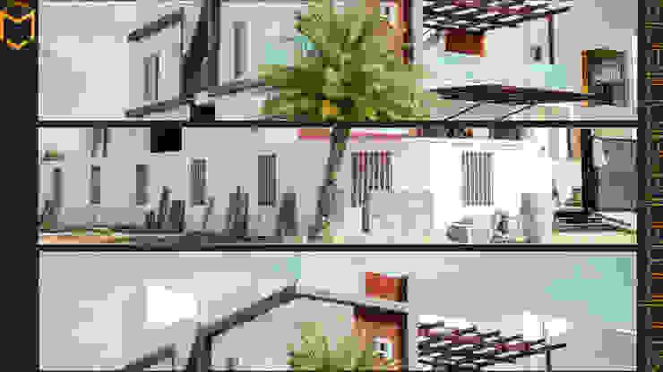 Facade Minimalist houses by Studio Madras Architects Minimalist