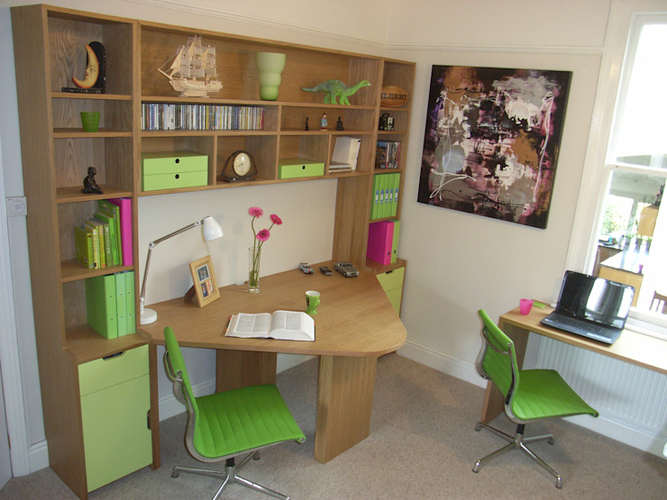 home office Style Within Moderne Arbeitszimmer Holz Grün