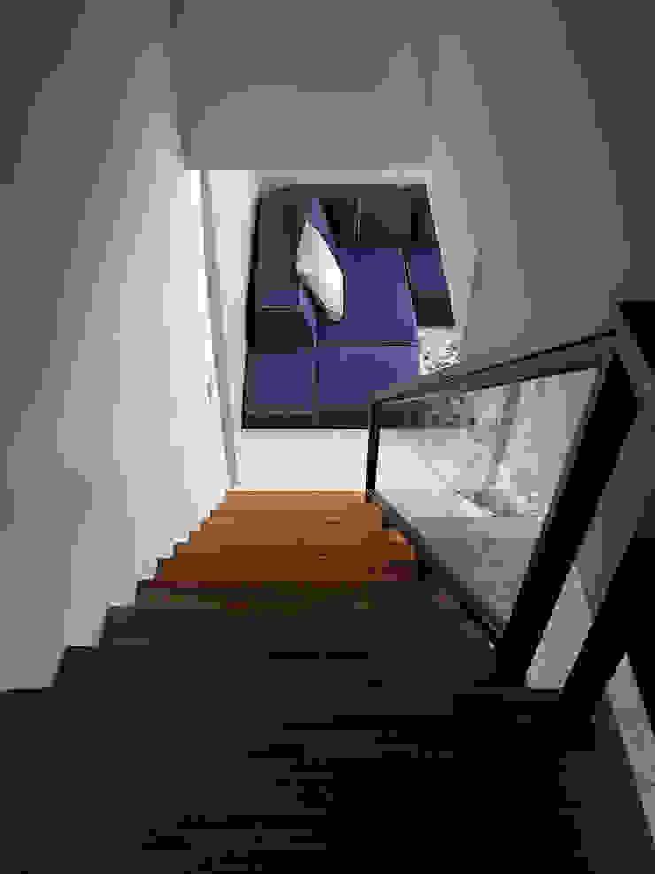 THE NEW WHITE PLACE 現代風玄關、走廊與階梯 根據 大集國際室內裝修設計工程有限公司 現代風