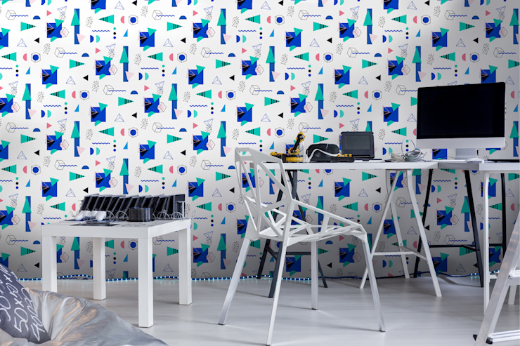Surrounded with geometry Pixers SalonAccessoires & décorations Multicolore