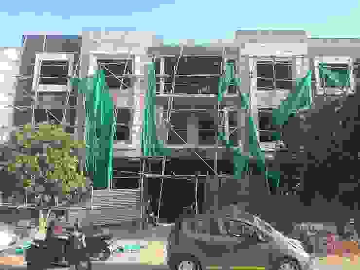 Front elevation Modern houses by Aditya shrivastava Modern Bricks