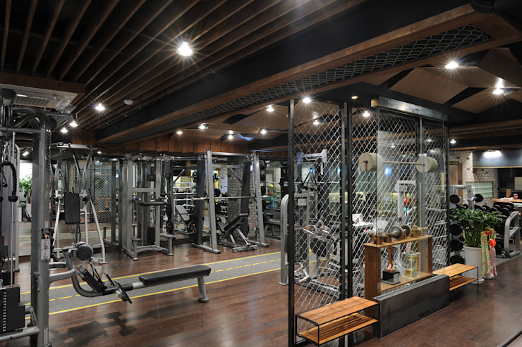 Scandinavian style gym by oldantique design 오직 모양새만 생각하는 사람들 Scandinavian Wood Wood effect