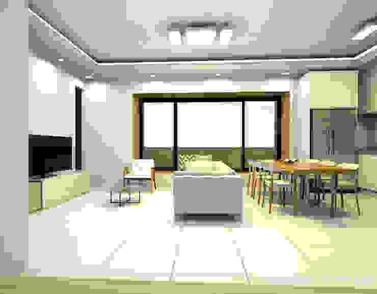 보령전원주택 모던스타일 거실 by 디자인 이업 모던