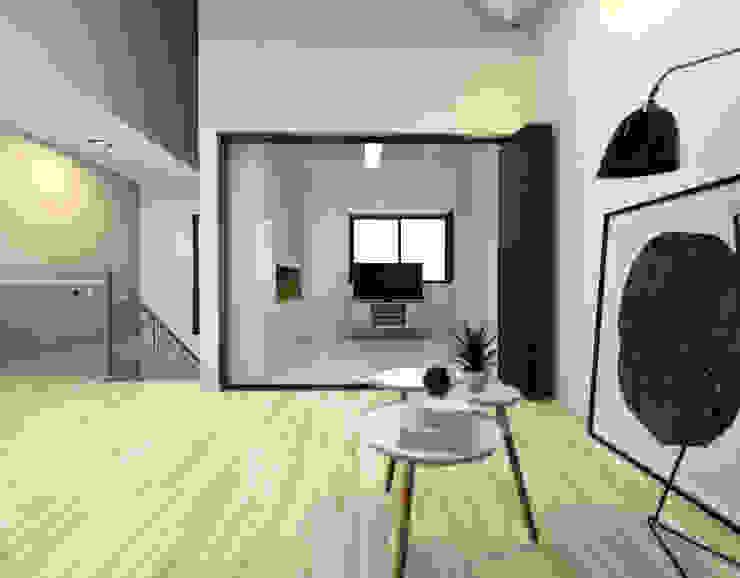보령전원주택 모던스타일 미디어 룸 by 디자인 이업 모던