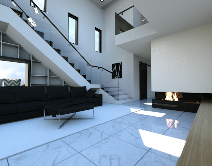Salon de style  par 디자인 이업, Moderne