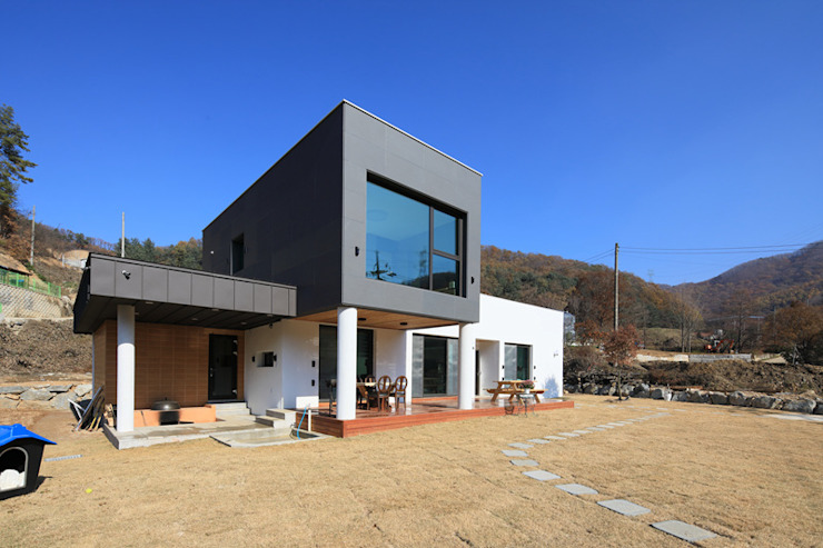 양평 지음재 모던스타일 주택 by 공감로하 건축사사무소 모던