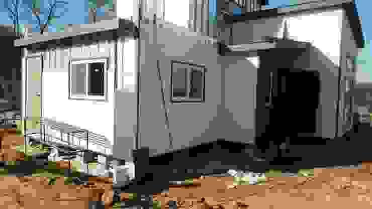 이동식 목조 주택 (모듈러 하우스) 모던스타일 주택 by 우영에코홈 모던