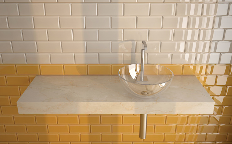 M10x20 Biselado. Ceragni Paredes e pisos minimalistas Azulejo Multicolor