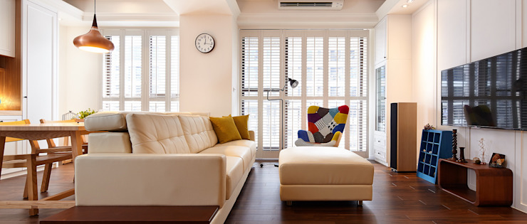 達圓室內設計 現代房屋設計點子、靈感 & 圖片 根據 達圓設計有限公司 現代風