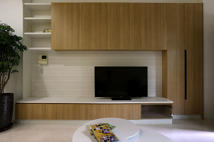 <低預算>舊屋翻新-小家庭的夢想家 根據 品茉空間設計/夏川設計 地中海風 MDF