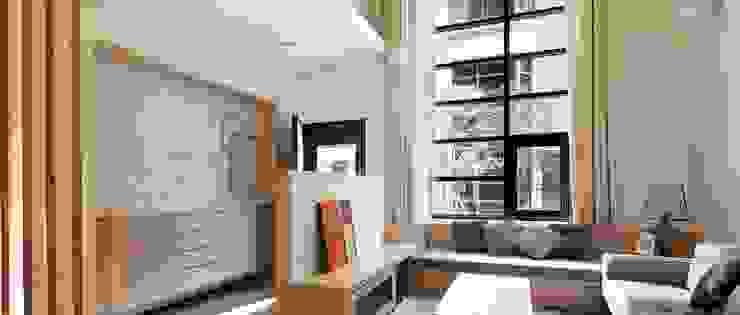 全方位統籌規劃 家的品質藏在細節裡 現代房屋設計點子、靈感 & 圖片 根據 達圓設計有限公司 現代風