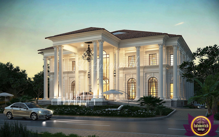  Facade Design in the classical style from Katrina Antonovich Classic style houses by Luxury Antonovich Design Classic