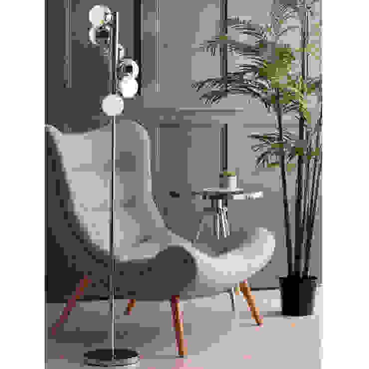 Corona 6 Light Vertical Spiral Floor Lamp Chrome Litecraft SoggiornoIlluminazione Metallizzato/Argento
