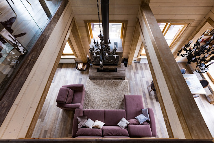 现代客厅設計點子、靈感 & 圖片 根據 GOOD WOOD 現代風