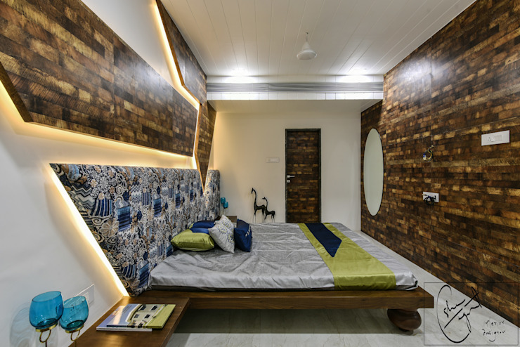 Office Project, Bilaspur ESHA GARG : Interior Designer Modern style bedroom