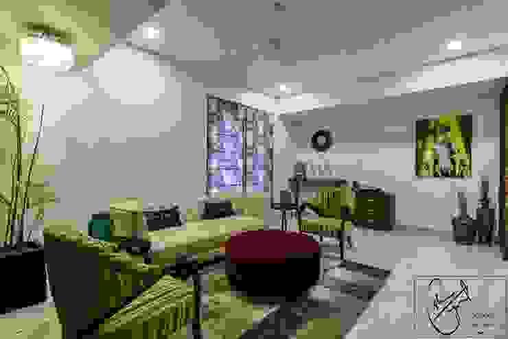 Office Project, Bilaspur ESHA GARG : Interior Designer Modern living room