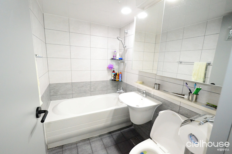 어반 모던 스타일 – 대우 대창 인테리어 모던스타일 욕실 by 씨엘하우스 모던
