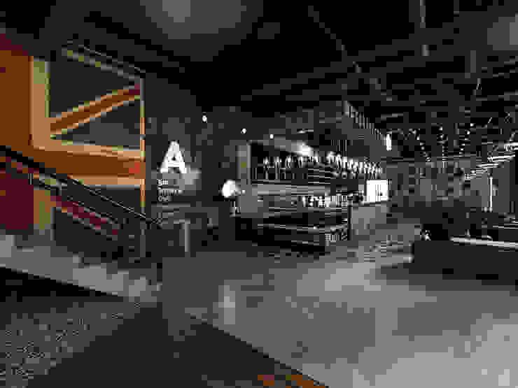 Salones de estilo  de 디자인 이업, Industrial