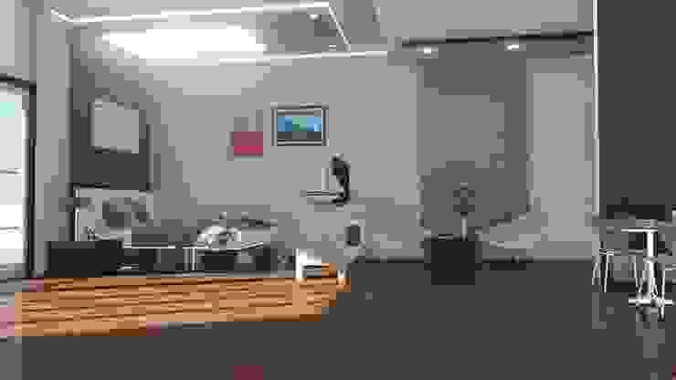 CONDO  HOTEL  STUDIOROOM: ทันสมัย  โดย SABPAROD STUDIO, โมเดิร์น แผ่น MDF