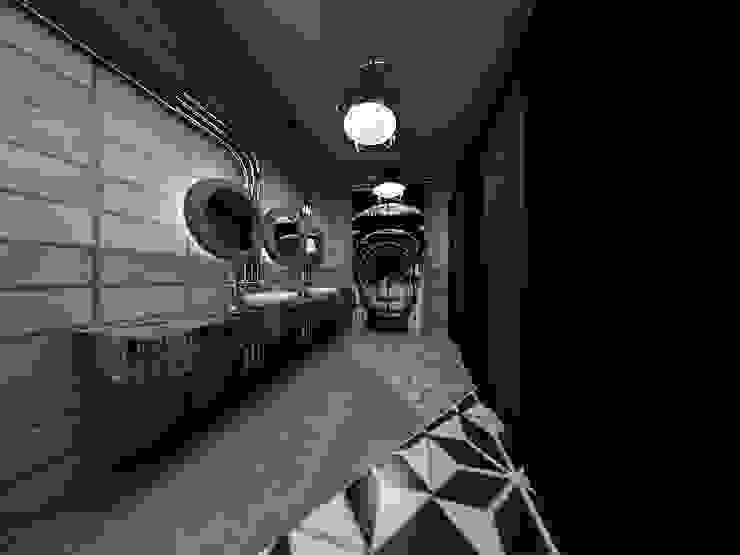 [Café ] 180평 패셔너블리한 공간 – 인더스트리얼 인테리어디자인 인더스트리얼 욕실 by 디자인 이업 인더스트리얼