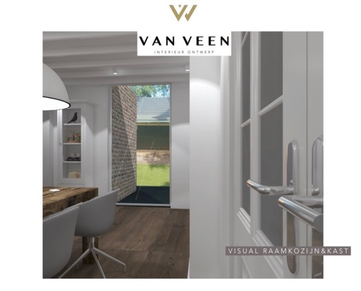Eetkamer van VAN VEEN INTERIOR DESIGN Klassiek Massief hout Bont