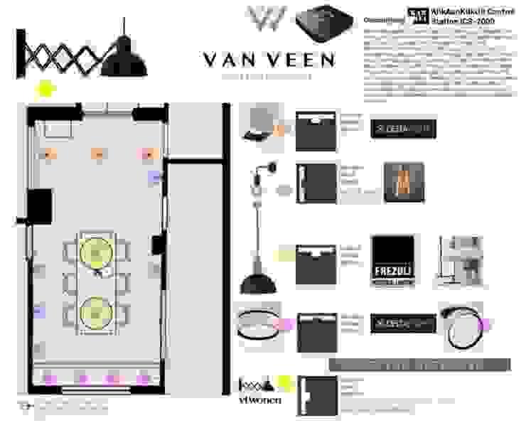 Lichtplan van VAN VEEN INTERIOR DESIGN Klassiek