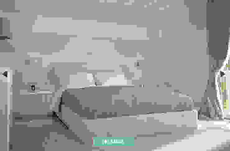 Fm 臥室床與床頭櫃 天然纖維 Beige