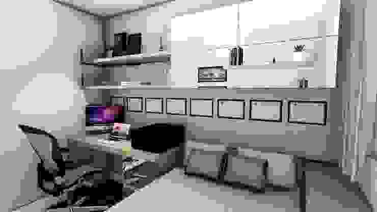 Apartamento compacto para jovem casal moderno Studio² Escritórios modernos