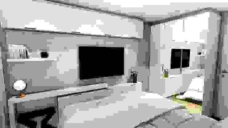 Apartamento compacto para jovem casal moderno Quartos modernos por Studio² Moderno