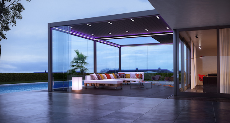 Bioclimatic Pergola Modern houses by homify Modern