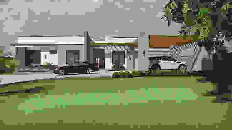 Fachada acceso principal Casas modernas de Arquitecto Pablo Restrepo Moderno