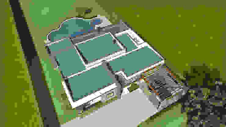 Vista aérea de los techos Casas modernas de Arquitecto Pablo Restrepo Moderno