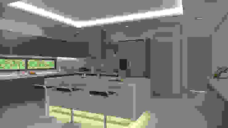 Cocina moderna Cocinas modernas de Arquitecto Pablo Restrepo Moderno Aglomerado