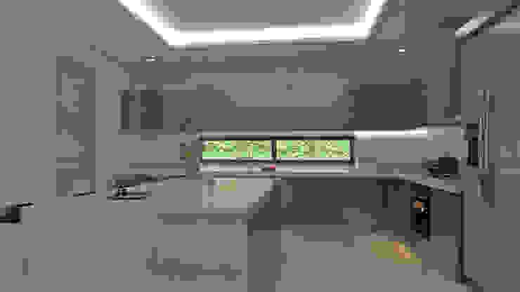 Isla cocina interior Cocinas modernas de Arquitecto Pablo Restrepo Moderno Aglomerado