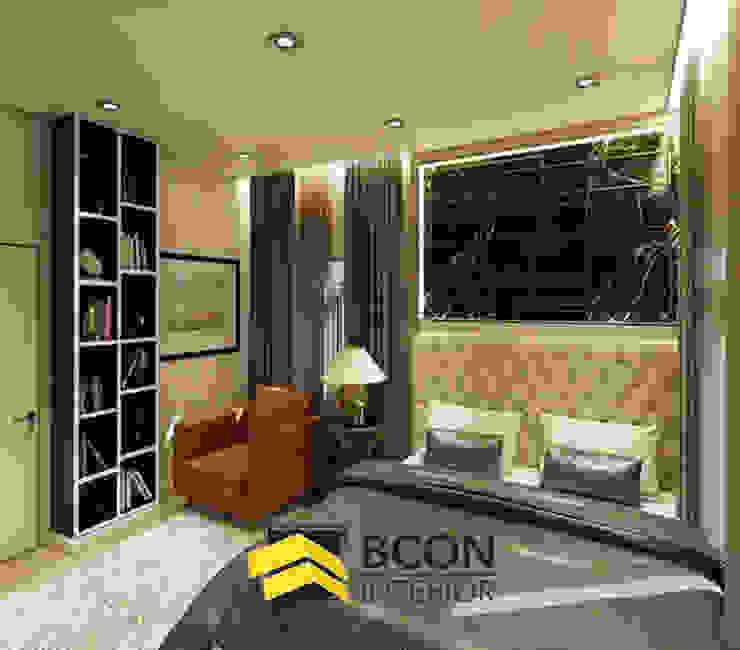 งานออกแบบบ้านเดี่ยว 3 ห้องนอน: ทันสมัย  โดย Bcon Interior, โมเดิร์น เฟอร์ White