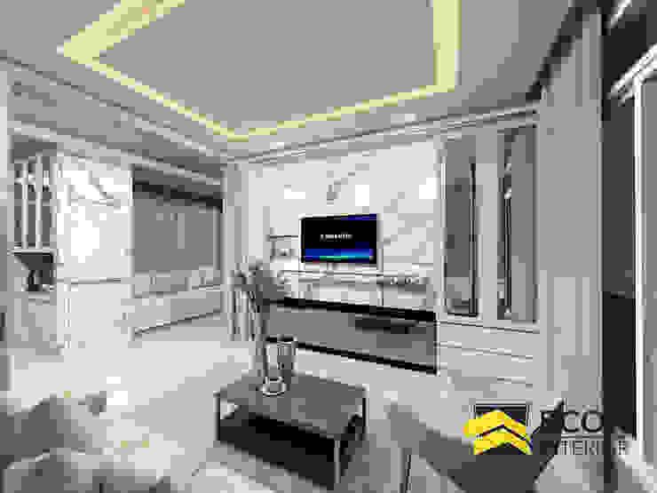 งานออกแบบบ้านเดี่ยว 3 ห้องนอน: ทันสมัย  โดย Bcon Interior, โมเดิร์น ไม้ Wood effect