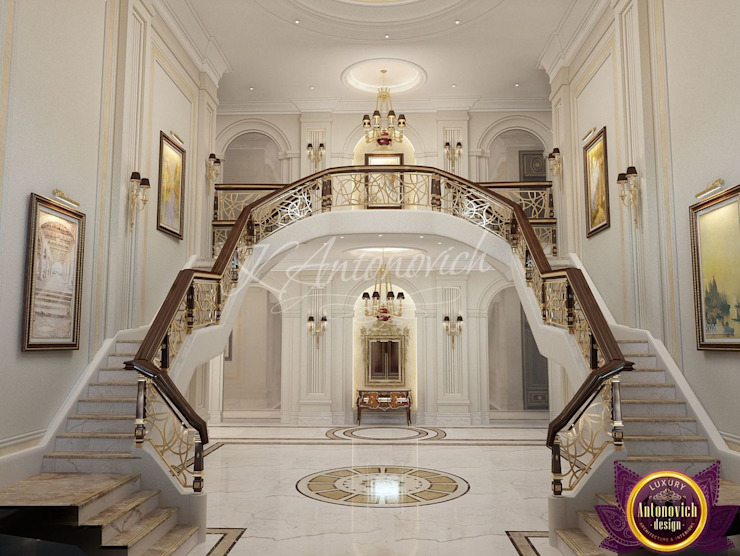 ​Interior Design in Sri Lanka from Katrina Antonovich Classic style corridor, hallway and stairs by Luxury Antonovich Design Classic