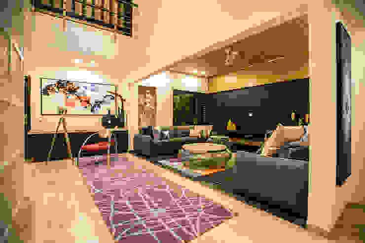 Lobby + Lounge Modern living room by Studio An-V-Thot Architects Pvt. Ltd. Modern