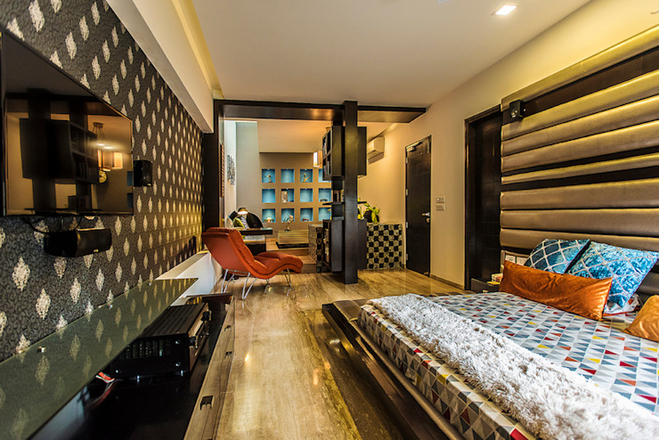Bedroom-2 Modern style bedroom by Studio An-V-Thot Architects Pvt. Ltd. Modern