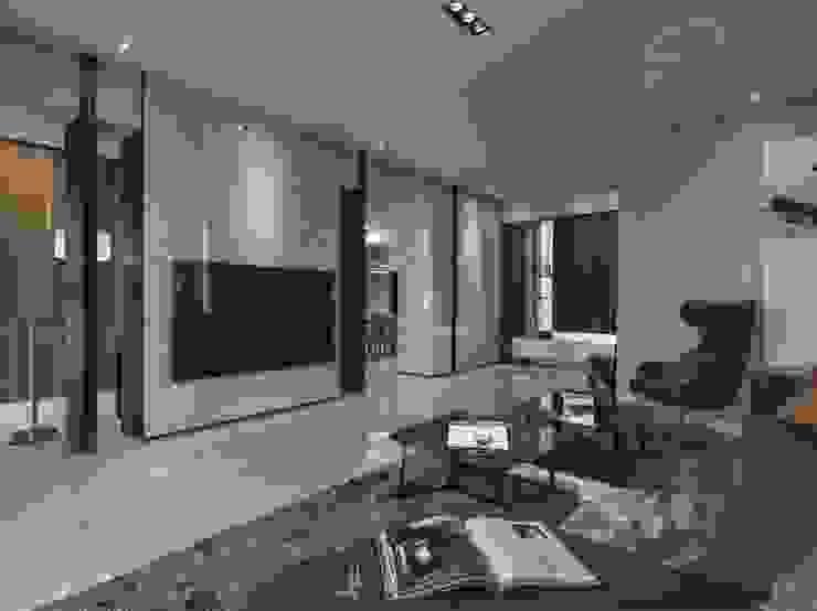 家.語彙 现代客厅設計點子、靈感 & 圖片 根據 竹村空間 Zhucun Design 現代風