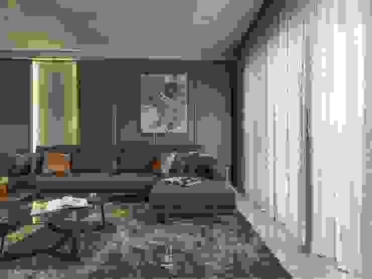Salon de style  par 竹村空間 Zhucun Design, Moderne