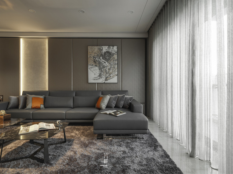 Moderne woonkamers van 竹村空間 Zhucun Design Modern