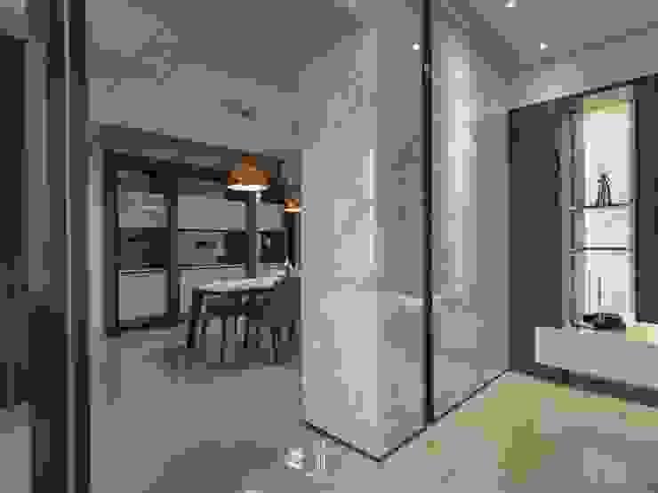 家.語彙 現代風玄關、走廊與階梯 根據 竹村空間 Zhucun Design 現代風