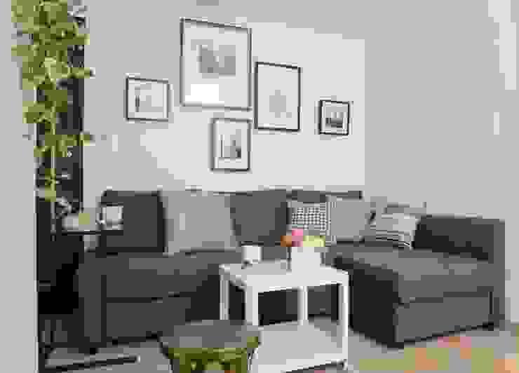 客人接待區 现代客厅設計點子、靈感 & 圖片 根據 大觀創境空間設計事務所 現代風