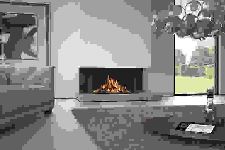 Recuperadores de Calor a Gás Salas de estar modernas por Biojaq - Comércio e Distribuição de Recuperadores de Calor Lda Moderno