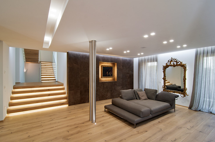 Ruang Keluarga Modern Oleh STIMAMIGLIO conceptluxurydesign Modern Kayu Wood effect