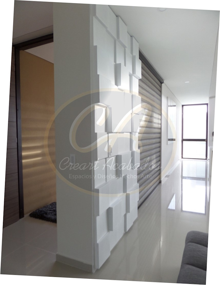 Revestimiento decorativo para muros: Box Panel de Creart Acabados Moderno Sintético Marrón