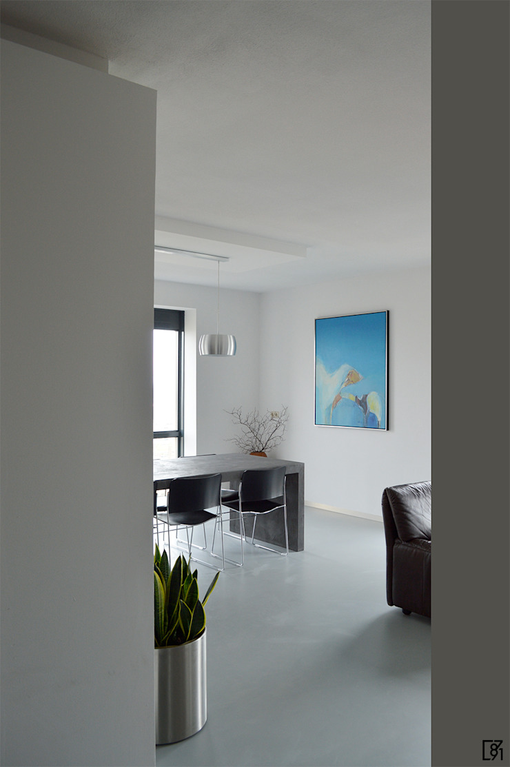 Penthouse Rotterdam Moderne woonkamers van Atelier Perspective Interieurarchitectuur Modern