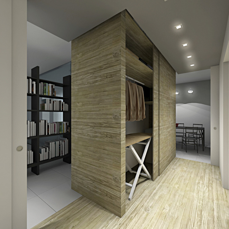 Modern Dressing Room by SOA Spazio Oltre l'Architettura Modern Wood Wood effect